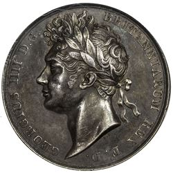 GREAT BRITAIN: George IV, 1820-1830, AR coronation medal, 1821. NGC AU58