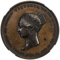 GREAT BRITAIN: Victoria, 1837-1901, AE coronation medal, 1838. NGC MS63
