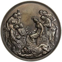 GREAT BRITAIN: Victoria, 1837-1901, AE medal, 1862. EF-AU