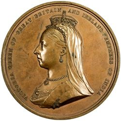 GREAT BRITAIN: Victoria, 1837-1901, AE medal, 1881. EF