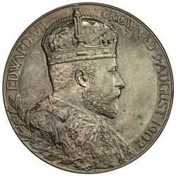 GREAT BRITAIN: Edward VII, 1901-1910, AE coronation medal (81.08g), 1902. UNC