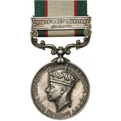 GREAT BRITAIN: George VI, 1936-1952, AR medal, Calcutta Mint. EF
