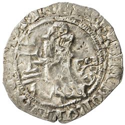 RHODES: Philibert of Naillac, 1396-1421, AR gigliato. EF-AU
