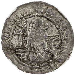 RHODES: Philibert of Naillac, 1396-1421, AR gigliato. NGC F12