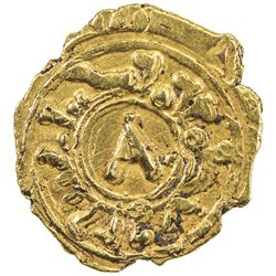 SICILY: Tancred, 1189-1194, AV tari (0.92g) (Messina). EF