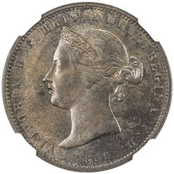 JERSEY: Victoria, 1837-1901, AE 1/13 shilling, 1866. NGC MS63