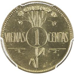 LITHUANIA: Republic, 1 centas, [1925]