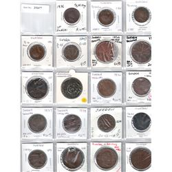 SWEDEN:LOT of 19 copper coins