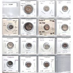 SWEDEN:LOT of 14 silver coins