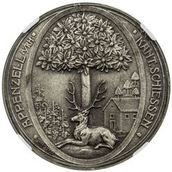 APPENZELL: AR shooting medal, 1908. NGC MS65