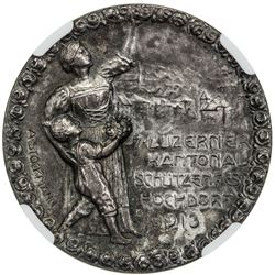 GLARUS: AR shooting medal, 1913. NGC MS65