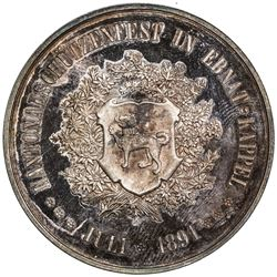 ST. GALLEN: AR shooting medal (38.62g), 1891. UNC
