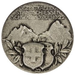ST. GALLEN: AR shooting medal, 1922. NGC MS63