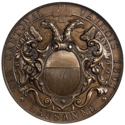 VAUD: AE shooting medal, 1894. NGC MS66
