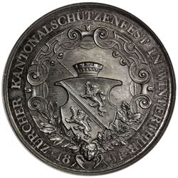 ZURICH: AR shooting medal, 1891. NGC MS63