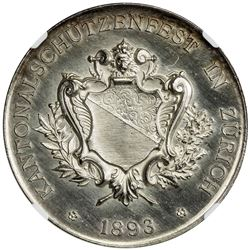 ZURICH: AR shooting medal, 1893. NGC MS63