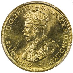 BRITISH WEST AFRICA: George V, 1910-1936, 6 pence, 1936-KN. PCGS SP