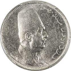 EGYPT: Fuad, as King, 1922-1936, 2 milliemes, 1924-H/AH1342. PCGS SP