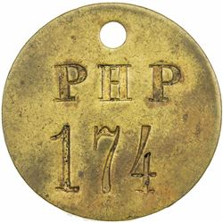 GERMAN EAST AFRICA: brass token (8.99g), ND (pre-1914), plantation at Lusangasanga, EF