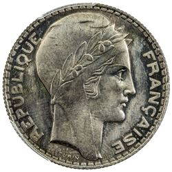 MOROCCO: Mohammed V, 1927-1961, cupro-nickel 10 franc ESSAI, Paris, ND (AH1346, =1927). PCGS SP65