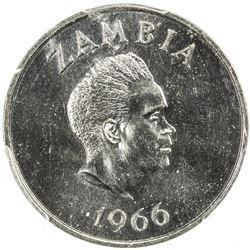 ZAMBIA: Republic, 2 shillings, 1966. PCGS SP