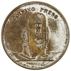 CHINA: AE advertising medal, 1903. PCGS AU58