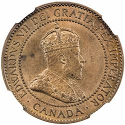 CANADA: Edward VII, 1901-1910, AE cent, 1910. NGC MS65