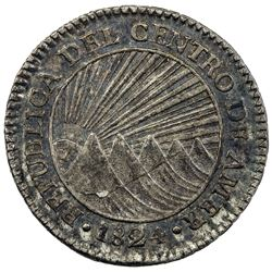 CENTRAL AMERICAN REPUBLIC: AR real, 1824-NG. EF