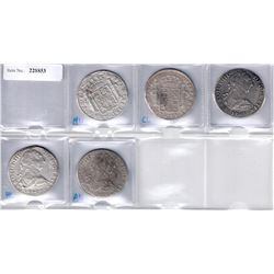 MEXICO:LOT of 5 Mexican silver 8 reales