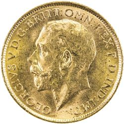 AUSTRALIA: George V, 1910-1936, AV sovereign, 1915-S. UNC