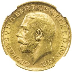 AUSTRALIA: George V, 1910-1936, AV sovereign, 1917-S. NGC MS62