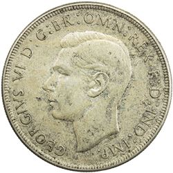 AUSTRALIA: George VI, 1937-1952, AR crown, 1938(m). AU