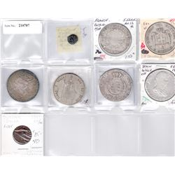 WORLDWIDE: LOT of 8 coins