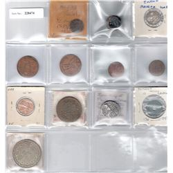 WORLDWIDE:LOT of 12 miscellaneous coins