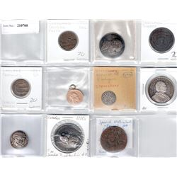 WORLDWIDE:LOT of 10 medals and tokens