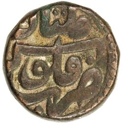 MUGHAL: Akbar I, 1556-1605, AE dam (20.77g), Multan, IE38, month of Farwardin. VF-EF