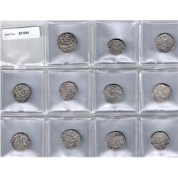 MUGHAL: Shah Alam II, 1759-1806, LOT of 11 silver rupees of the Shahjahanabad mint