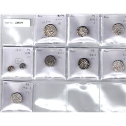 NAGPUR: Raghuji III, 1818-1853, LOT of 7 silver rupees and 2 eighth rupees
