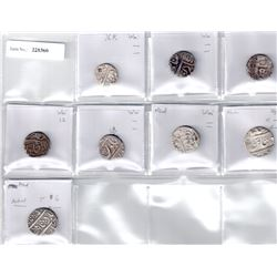 NAGPUR:LOT of 7 silver rupees and 1 half rupees