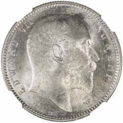 BRITISH INDIA: Edward VII, 1901-1910, AR rupee, 1906(c). NGC MS63