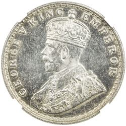 BRITISH INDIA: George V, 1910-1936, AR rupee, ND. NGC MS62