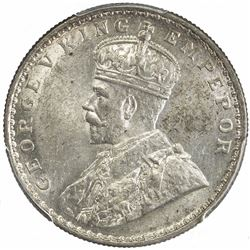 BRITISH INDIA: George V, 1910-1936, AR rupee, 1914(b). PCGS MS61
