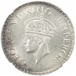 BRITISH INDIA: George VI, 1936-1947, AR rupee, 1938(b). NGC MS64