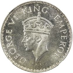 BRITISH INDIA: George VI, 1936-1947, AR rupee, 1938(b). NGC MS63