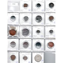 DIU & GOA: LOT of 16 base metal coins and 2 silver coins