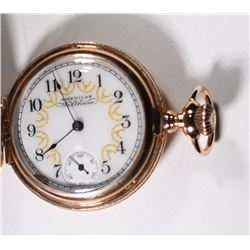 Circa 1899 Waltham Ladies Hunting Pendant Watch