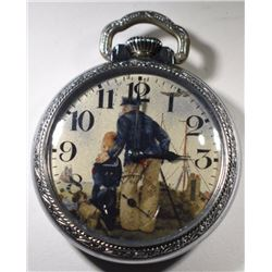 NY Standard Pocket Watch with Sailor, Circa 1894,