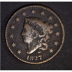 1827 LARGE CENT FINE  POROSITY
