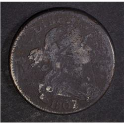 1807/6 DRAPED BUST LARGE CENT FINE