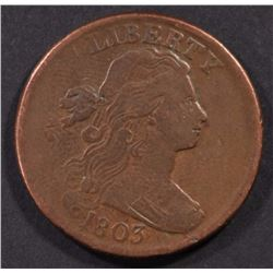 1803 LARGE CENT  VF